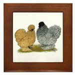 Sizzle Chickens Framed Tile