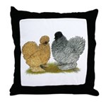 Sizzle Chickens Throw Pillow