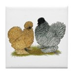Sizzle Chickens Tile Coaster