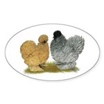 Sizzle Chickens Sticker (Oval 50 pk)
