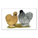 Sizzle Chickens Sticker (Rectangle)