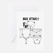 Volleyball back attack Greeting Card