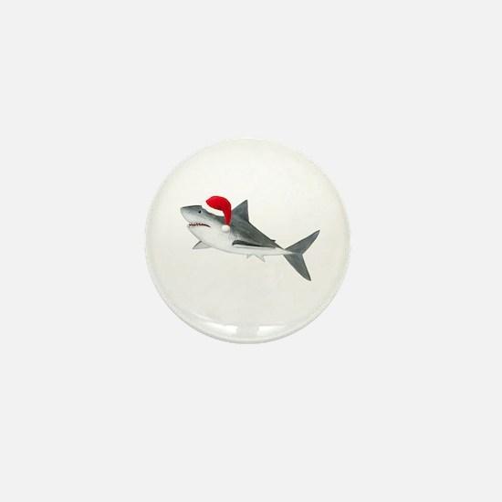 Christmas - Santa - Shark Mini Button