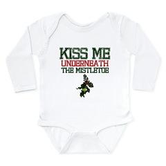 Kiss Under Mistletoe Long Sleeve Infant Bodysuit