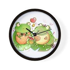 Cute Frogs Wall Clock