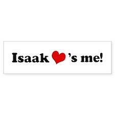 Isaak Loves Me Bumper Car Sticker