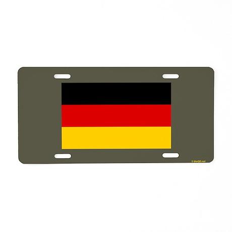 Vintage German Army Aluminum License Plate