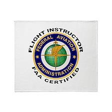 Flight Instructor Throw Blanket