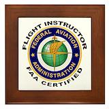 Flight instructor Framed Tiles