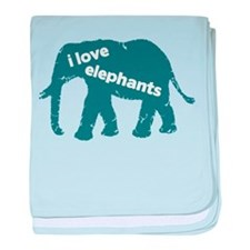 i love elephants baby blanket