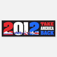Take America Back 2012 Sticker (Bumper)