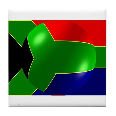 South African Flag Design Tile Coaster
