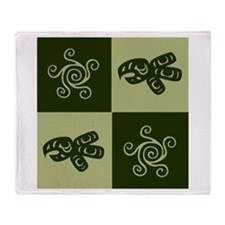 Star Totem (green) Throw Blanket