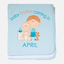 Baby Bro Due April baby blanket