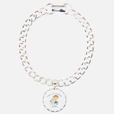 Baby Bro Due April Charm Bracelet, One Charm