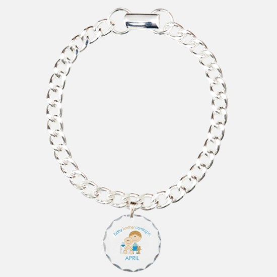 Baby Bro Due April Charm Bracelet, One Charm