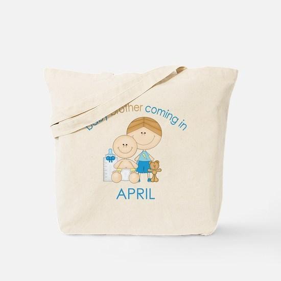 Baby Bro Due April Tote Bag