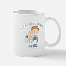 Baby Bro Due April Mug