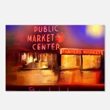 Cute Pike place market seattle Postcards (Package of 8)