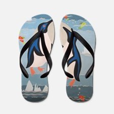 Penguin Pair Flip Flops