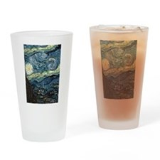 Starry Night Drinking Glass