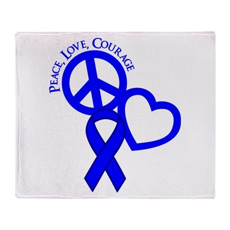 Peace,Love,Courage Throw Blanket