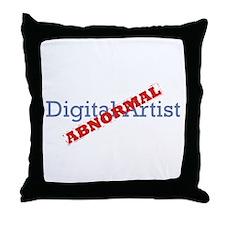 Digital Artist / Abnormal Throw Pillow
