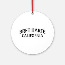 Bret Harte California Ornament (Round)