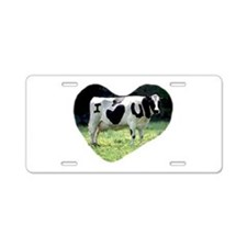 I Love You Cow Aluminum License Plate
