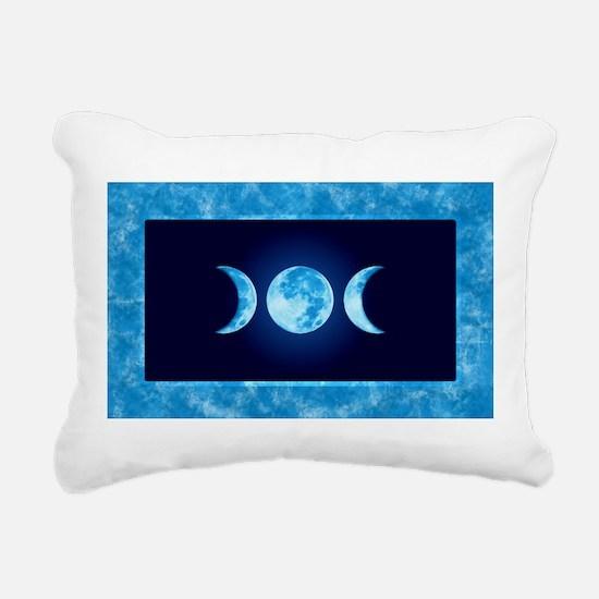 Three Phase Moon Rectangular Canvas Pillow