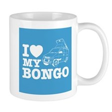 I Love My Bongo - Blue Small Mug