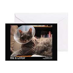 Life is Unfair (Ten Cat Greeting Cards)