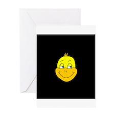 Funny Duck Cartoon Greeting Card