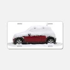 Snow Cooper Aluminum License Plate