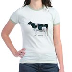 Holstein Cow Jr. Ringer T-Shirt