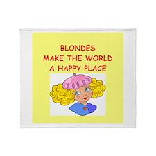 blondes Throw Blanket