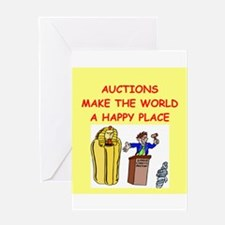 auctions Greeting Card