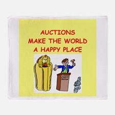 auctions Throw Blanket