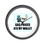 GAS PRICES ATE MY WALLET Wall Clock