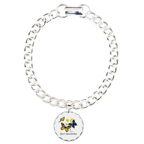 Great Grandmother Butterflies Charm Bracelet, One