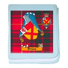 Bruce Scottish Family Name baby blanket