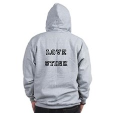Cute Love stinks Zip Hoodie
