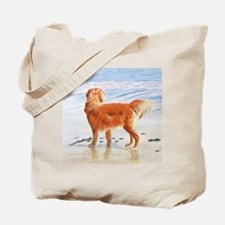 Golden Retriever at the Beach Tote Bag