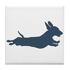 Running dachshund Tile Coaster