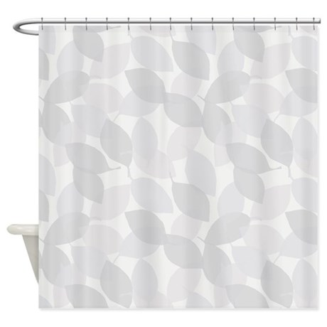 Leaves Cameo Grey Shower Curtain