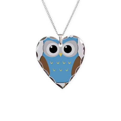 Cute Owl Necklace Heart Charm