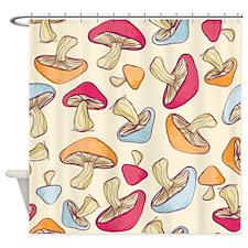 Mushrooms Cream Shower Curtain
