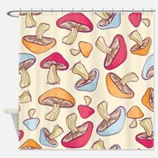 Mushrooms Cream Shower Curtain