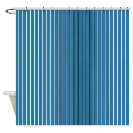 pinstripe blue shower curtain by admin cp45405617