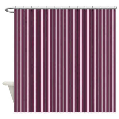 pinstripe double grape shower curtain by admin cp45405617